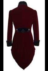 Burgundy Gothic Swallowtail Coat