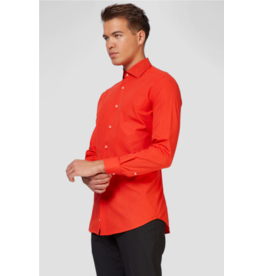 Red Devil Long Sleeve Suit Shirt