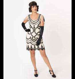Ivory Beaded Flapper Dress