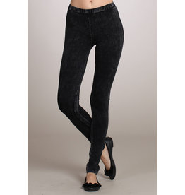 Mineral Wash Leggings with Waistband