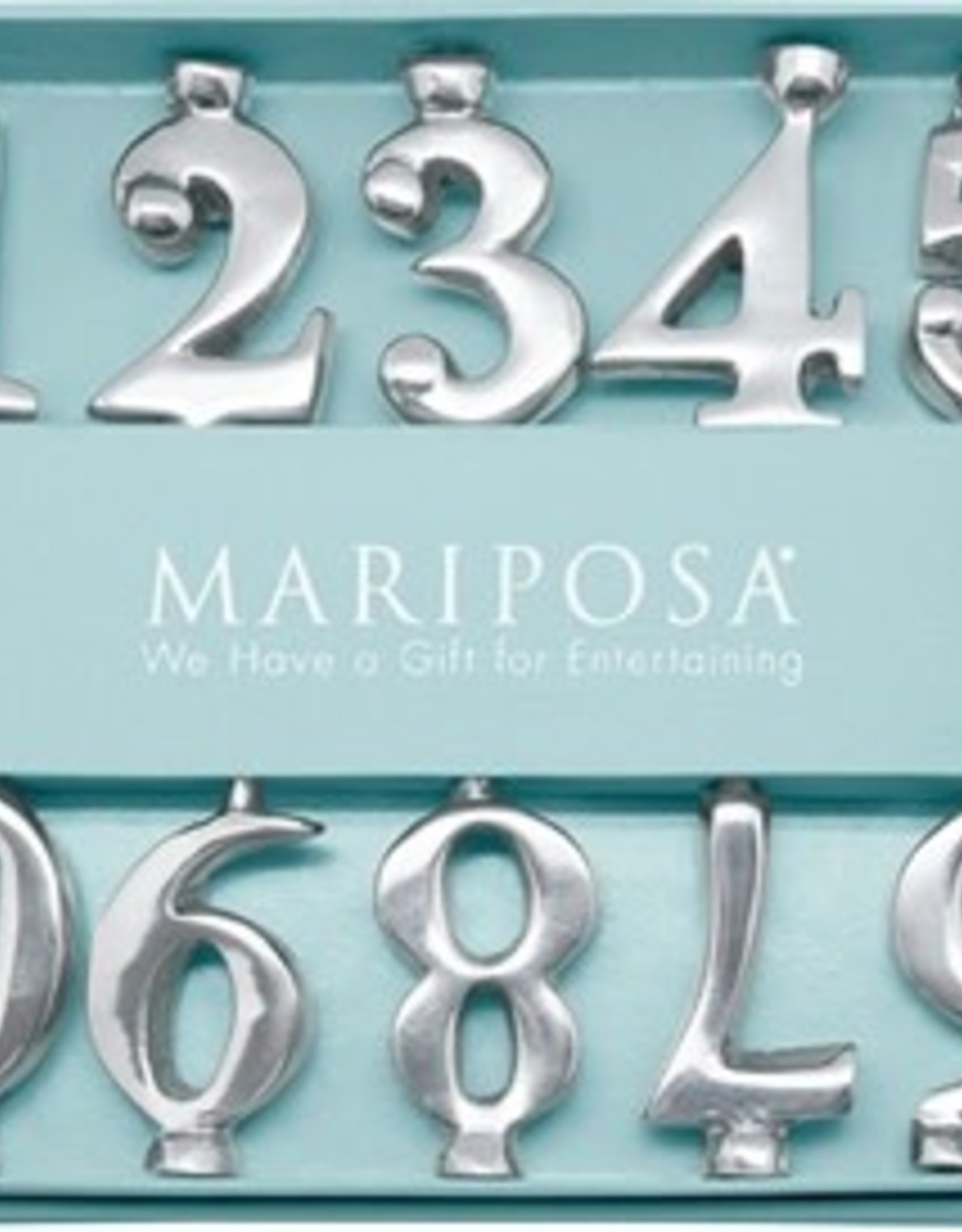 Mariposa Number Candle Holder Set