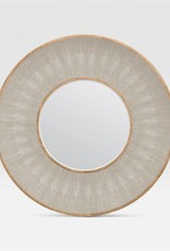 "Made Goods 38"" Armond Shagreen Pattern Sand/Sycamore Mirror"