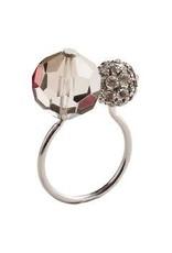 Kim Seybert Posh Napkin Ring - Silver/Grey