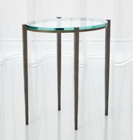 Global Views Petite Oval Accent Table - Natural Iron