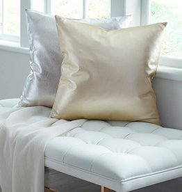 Sferra Satta Top Grain Leather 20x20 Pillow  by Sferra