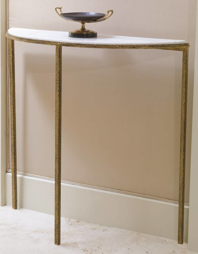 Global Views Hammered Gold Console 38w x 36.5h x 12d