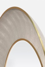"""Made Goods 38"""" Armond Shagreen Pattern Sand/Sycamore Mirror"""
