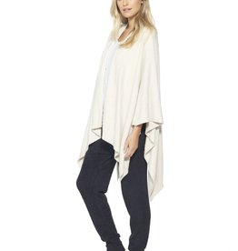 Barefoot Dreams COZYCHIC LITE WEEKEND WRAP - Heathered Stone/Pearl