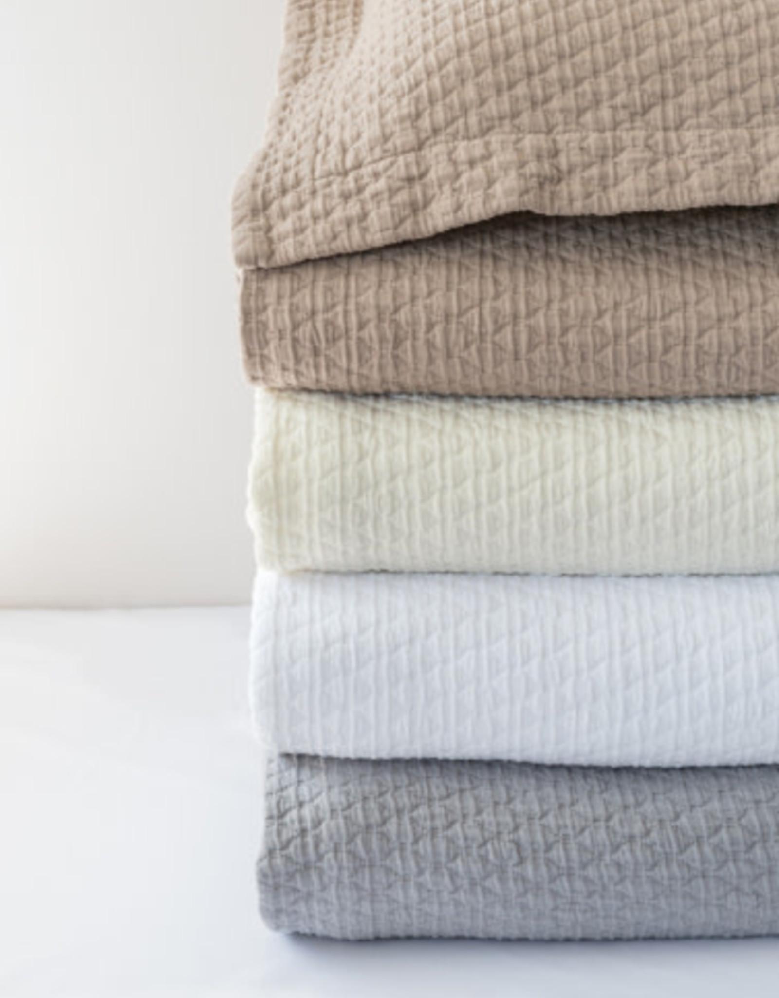 Bovi Simply Cotton Matelasse Euro Sham - White - by Bovi