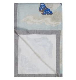 Designers Guild Mirrored Butterflies Sky Throw 51x71