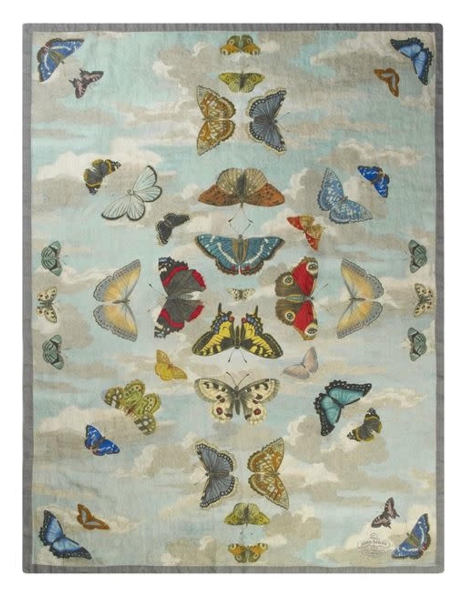 Designers Guild Mirrored Butterflies Sky Throw 51x71