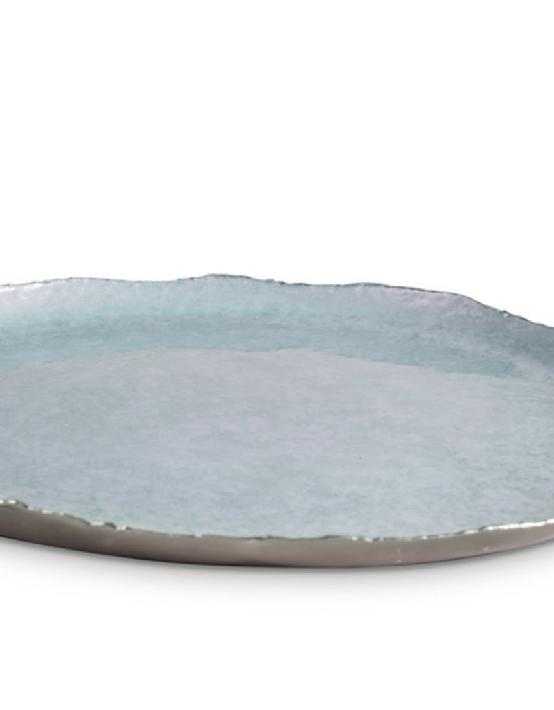 "Julia Knight 13"" Round Tray Cascade - Surf"
