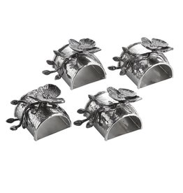 Michael Aram Black Orchid Napkin Ring Set/4