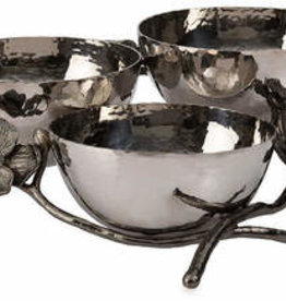 Michael Aram Black Orchid Triple Nut Dish