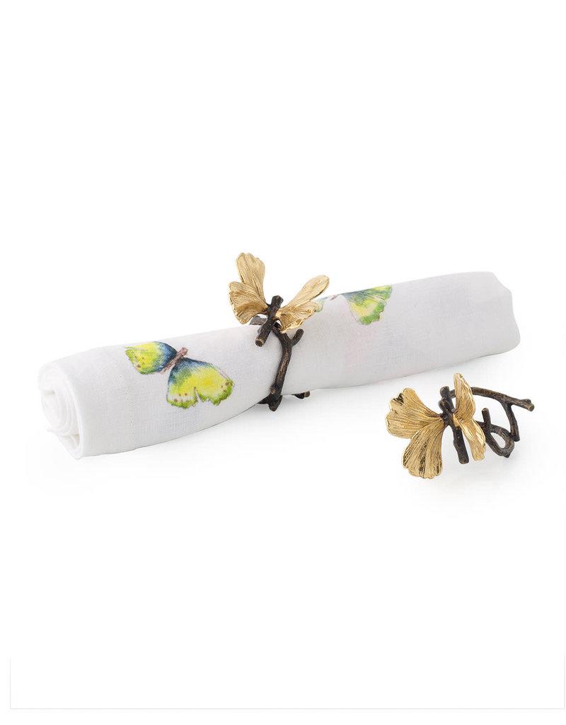 Michael Aram Butterfly Ginkgo Napkin Rings Set of 4