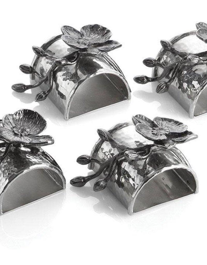 Michael Aram Black Orchid Napkin Ring Set/4