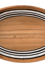"Juliska Oval Serve Bowl Stonewood Stripe 12"" - Discontinued"