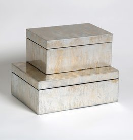 Studio A Box - Champagne Silver Leaf - Small - 9x6x4h