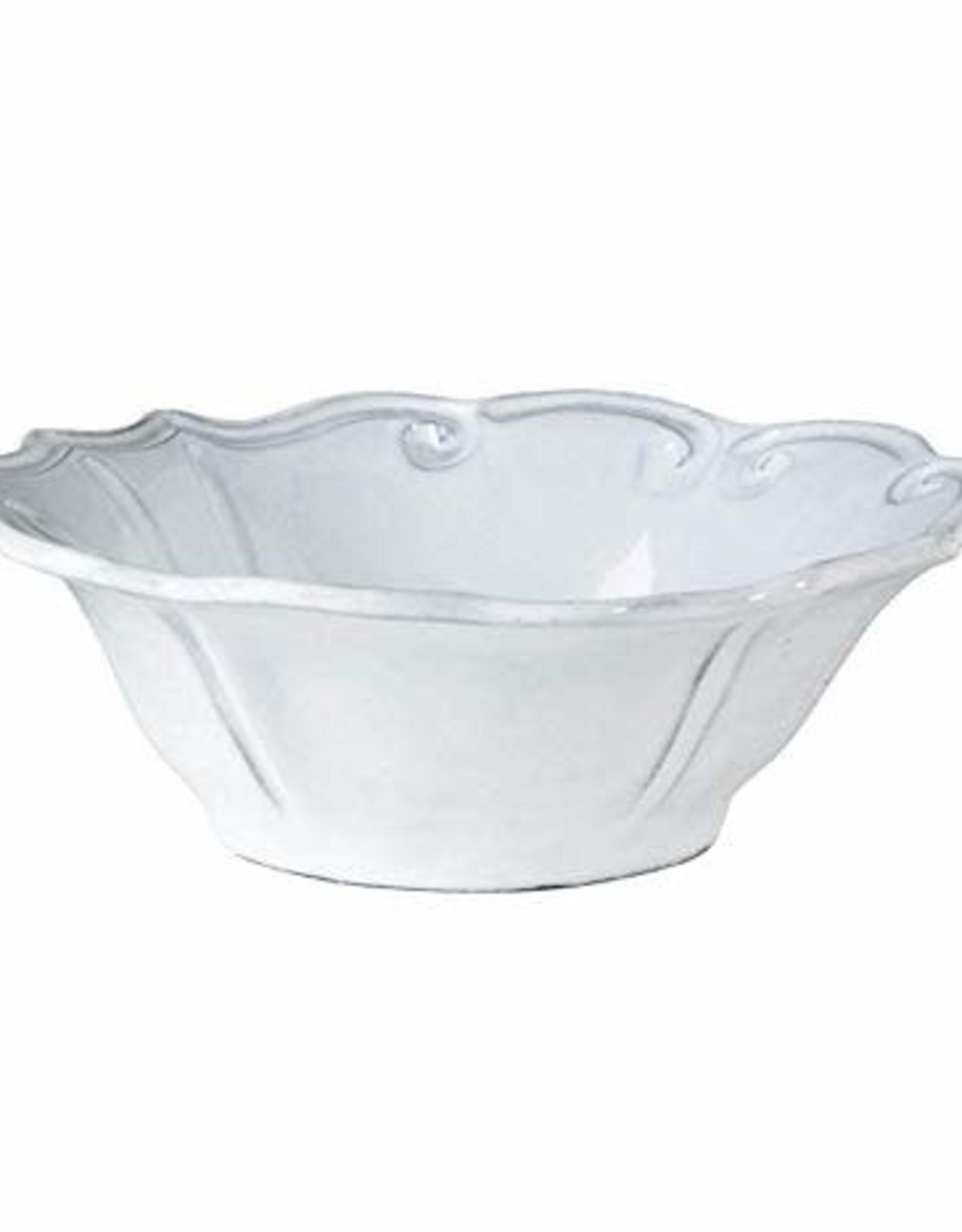 Vietri Incanto Baroque Cereal Bowl-White 7.25'd,