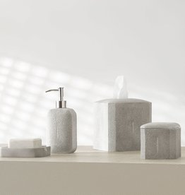 Kassatex Shagreen Bath Accessories Grey