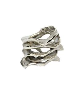 Kim Seybert Flux Napkin Ring - Silver