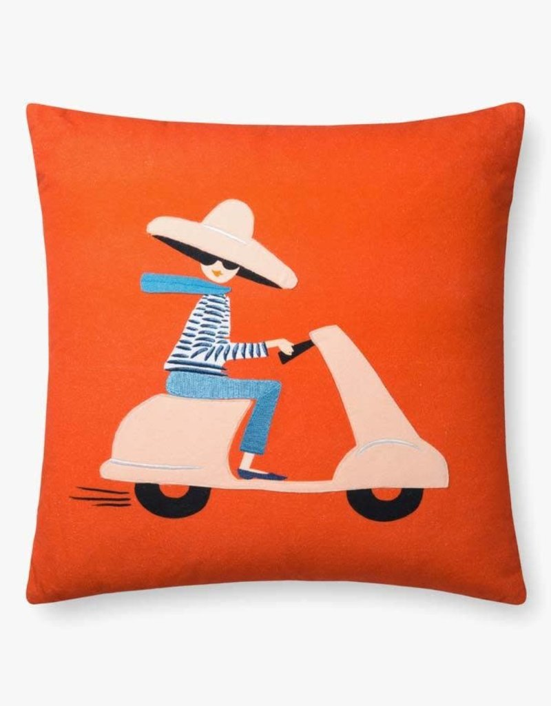 Rifle Paper Co by Loloi RP RED / MULTI SCOOTER PILLOW