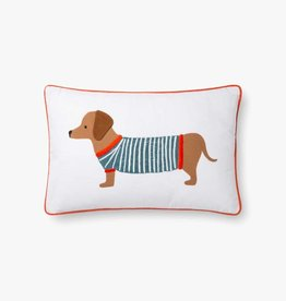 Rifle Paper Co by Loloi RP Dachshund DOG SWEATER PILLOW
