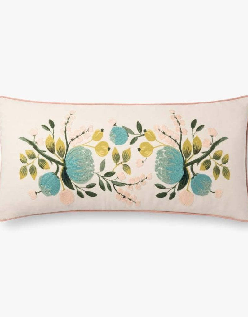 Rifle Paper Co by Loloi IVORY / MULTI PILLOW - down fill included