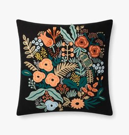 Rifle Paper Co by Loloi Rifle Paper Co. BLACK / MULTI FLORAL PILLOW
