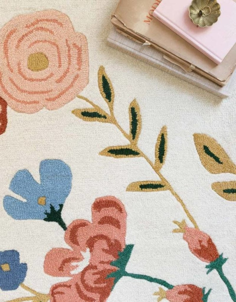 Rifle Paper Co by Loloi Les Fleurs Collection - Ivory Floral Vines Rugs