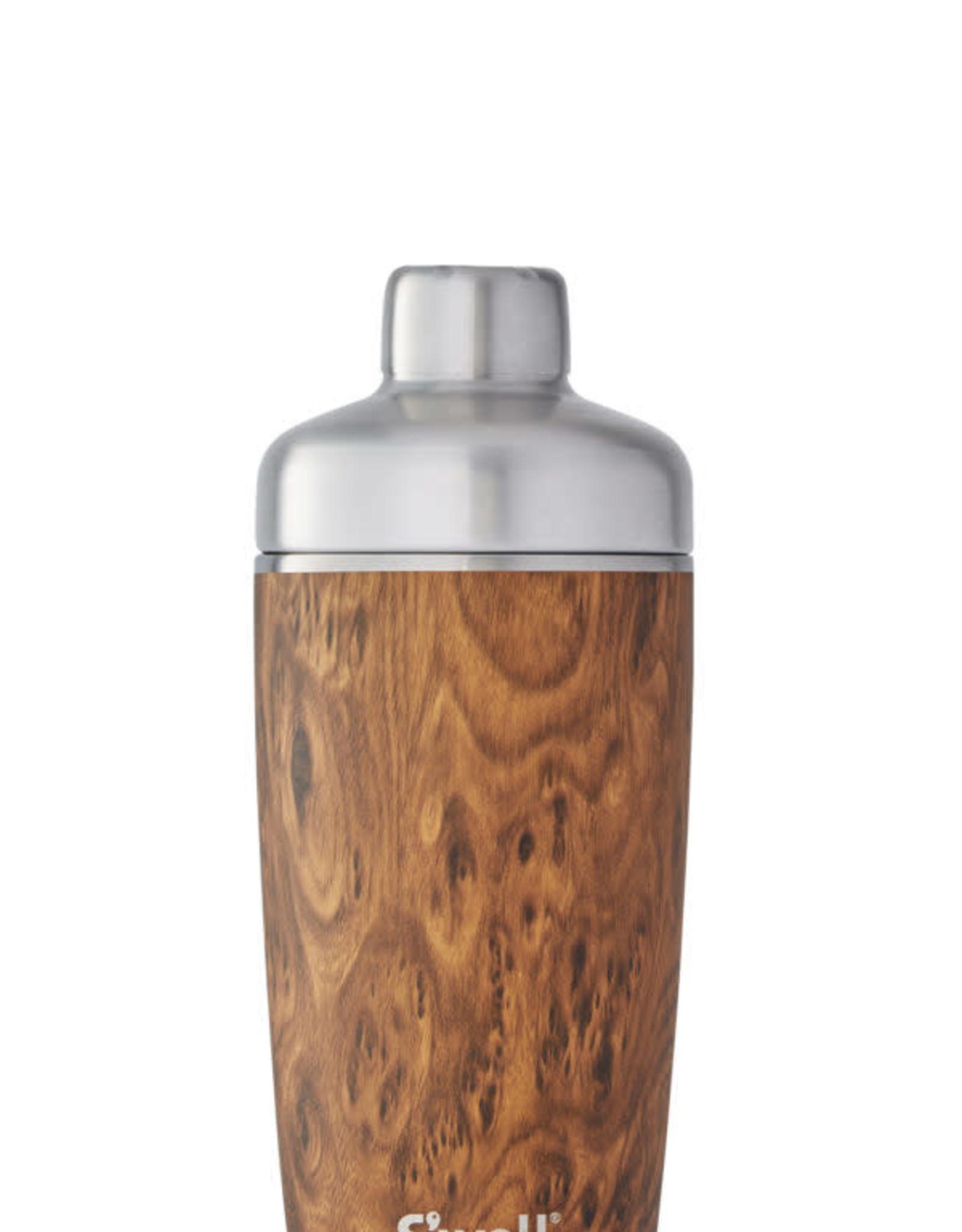 Swell Bottle 18oz Teakwood Shaker Set
