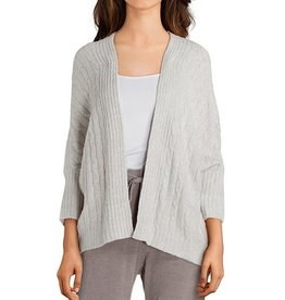 Barefoot Dreams CozyChic Lite Cable Shrug he silver-pearl S/M