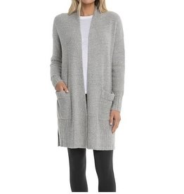 Barefoot Dreams CozyChic Lite Long Weekend Cardi he pewter-silver S
