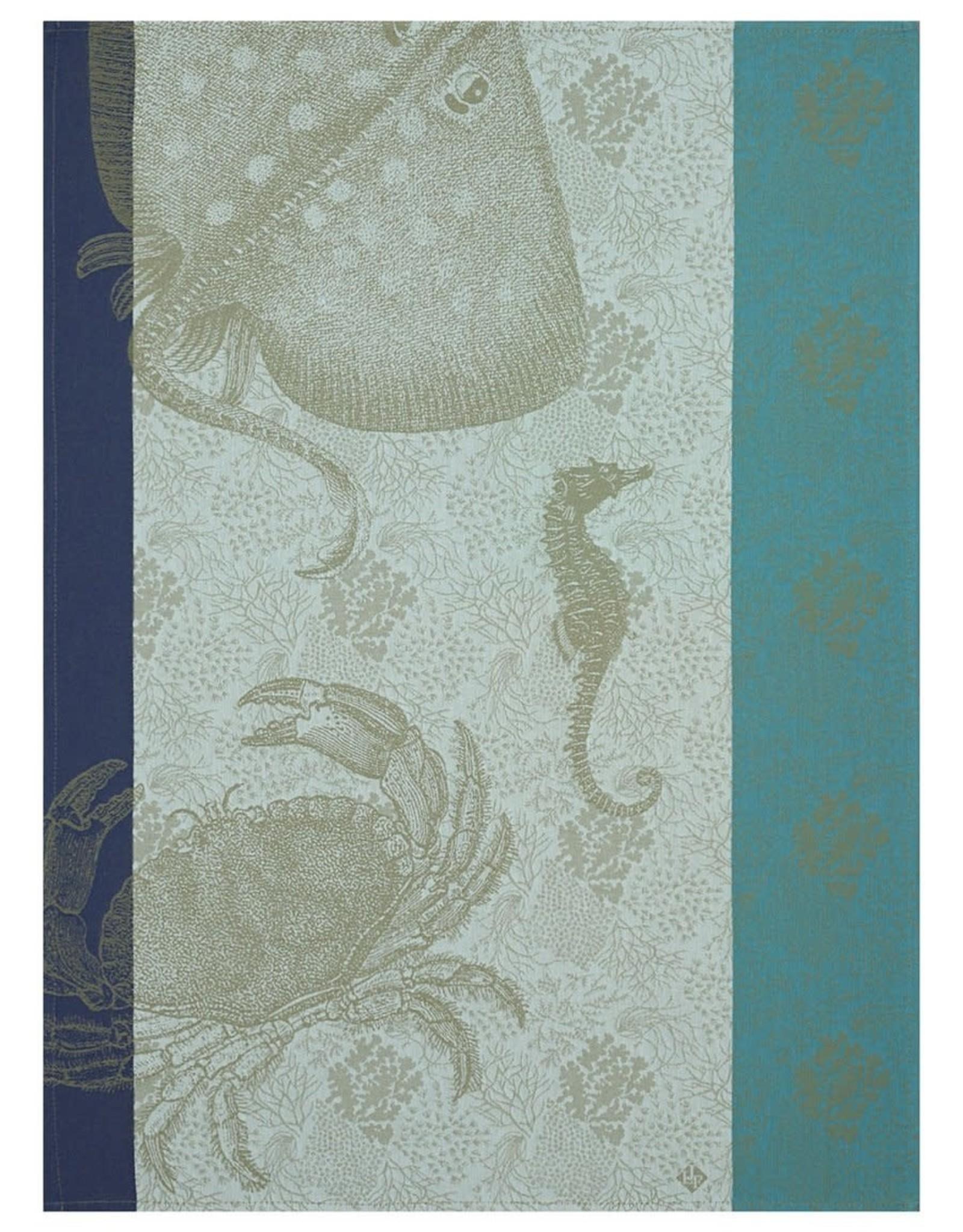 Le Jacquard Francais Tea Towel Fond Marin Crabe Pacifique