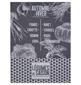 Le Jacquard Francais Tea Towel Saison Legume Black Radish