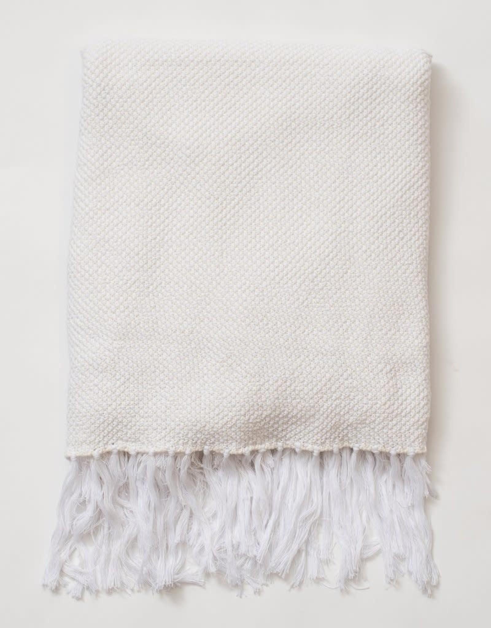 Zestt Essential Knit Throw - White