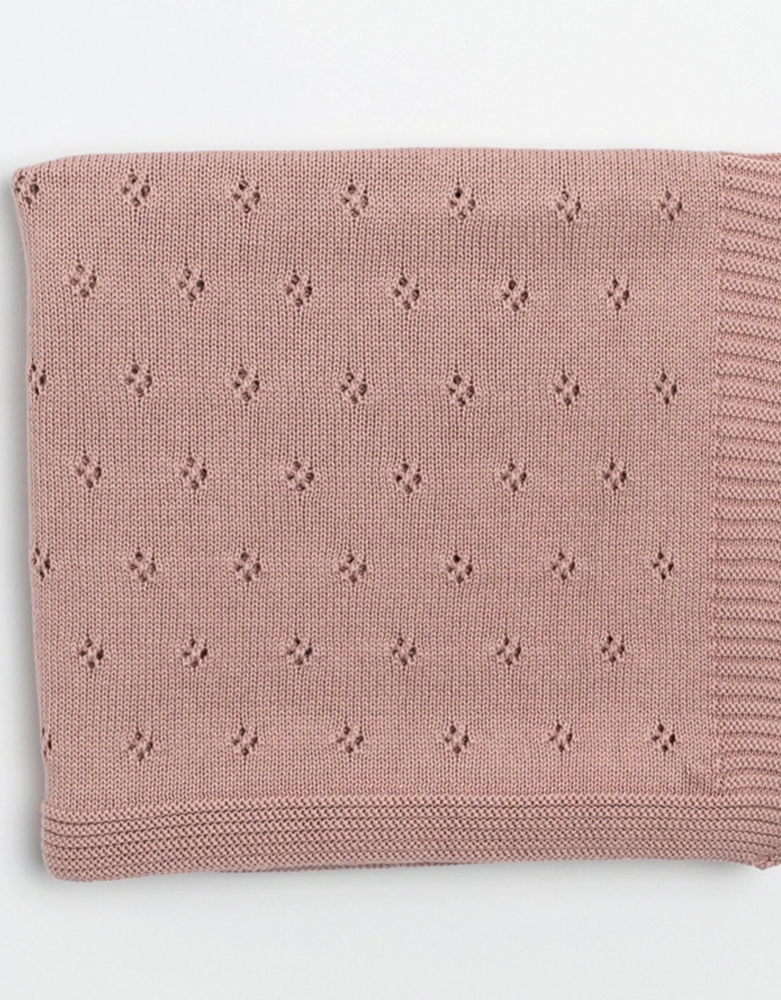 Zestt Clover Knit Baby Blanket Berry