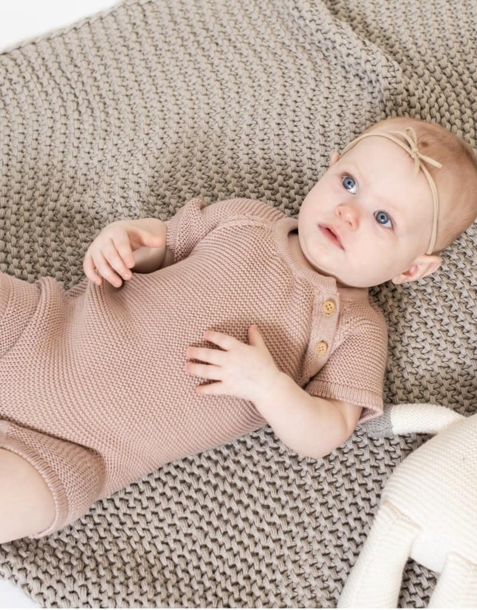 Zestt Organic Cotton Classic Knit Baby Romper Short