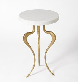 Global Views Silhouette Accent Table Antique Gold