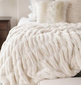 Fabulous Furs Couture Ivory Mink Throw 60x72
