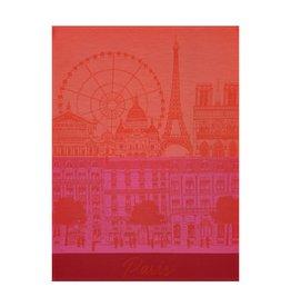 Le Jacquard Francais Paris Panorama Red Kiss Tea Towel