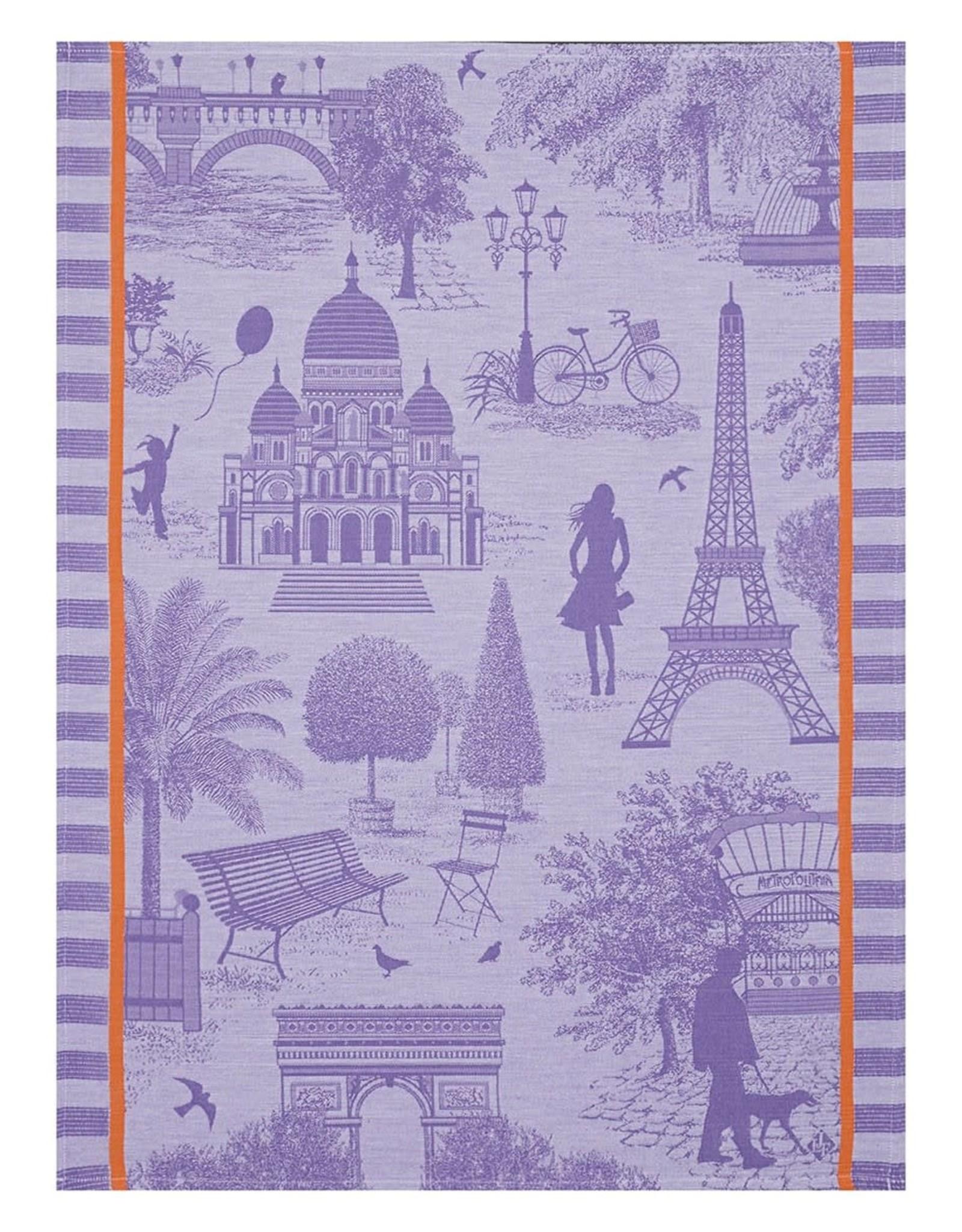 Le Jacquard Francais Toile de Paris Blk Currant Tea Towel