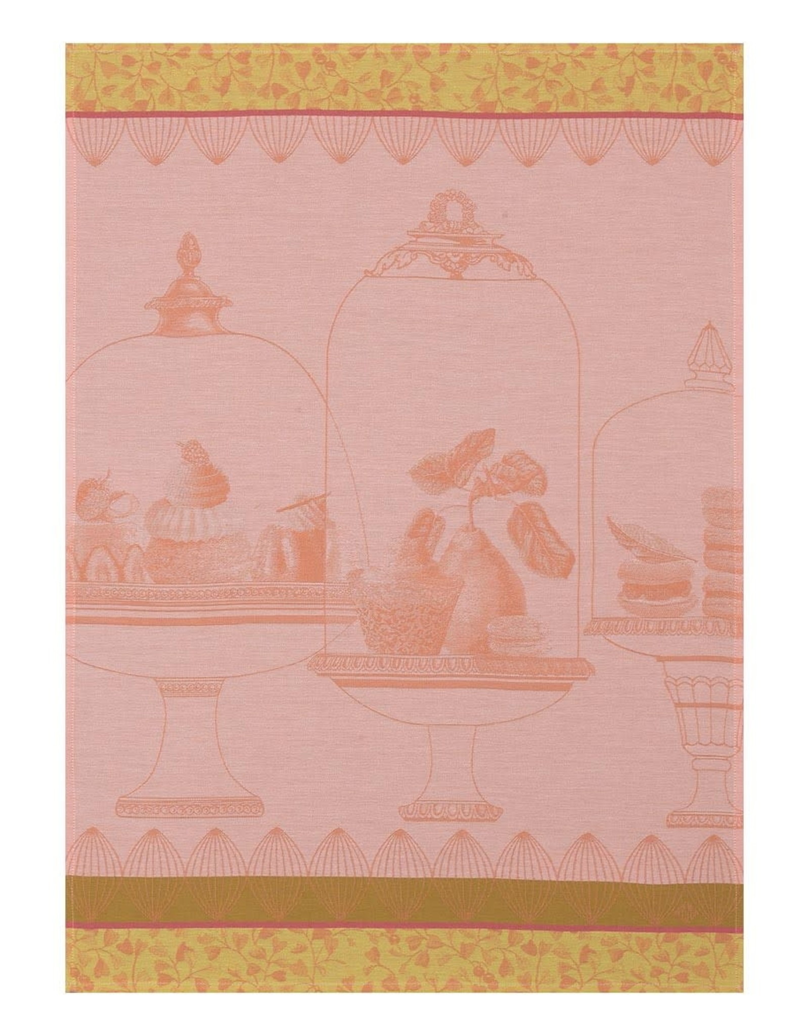 Le Jacquard Francais Plaisirs Gourmands Peche Tea Towel
