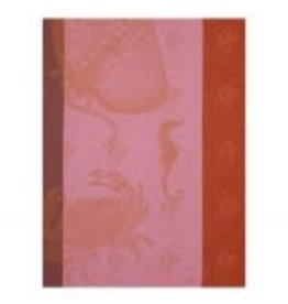 Le Jacquard Francais Tea Towel Fond Marin Crabe Anemone