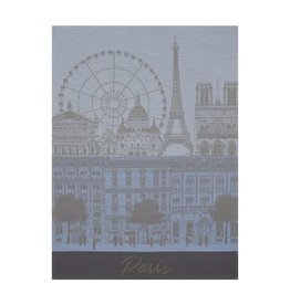 Le Jacquard Francais Paris Panorama Azure Tea Towel