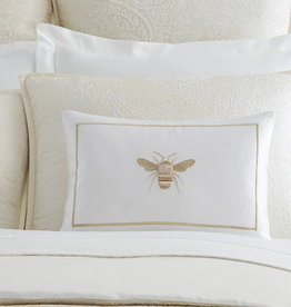 Sferra Miele Snow/Gold 12x18 Bee Pillow