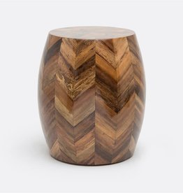Made Goods Jada Stool 18Hx15D Natural Banana Bark