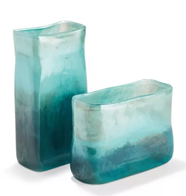 Two's Company Green-Blue Landscape Vase Wide