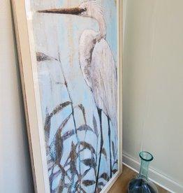 Art Classics Ltd Fresh Water Egret II 40 x 76 (outside frame measurement)