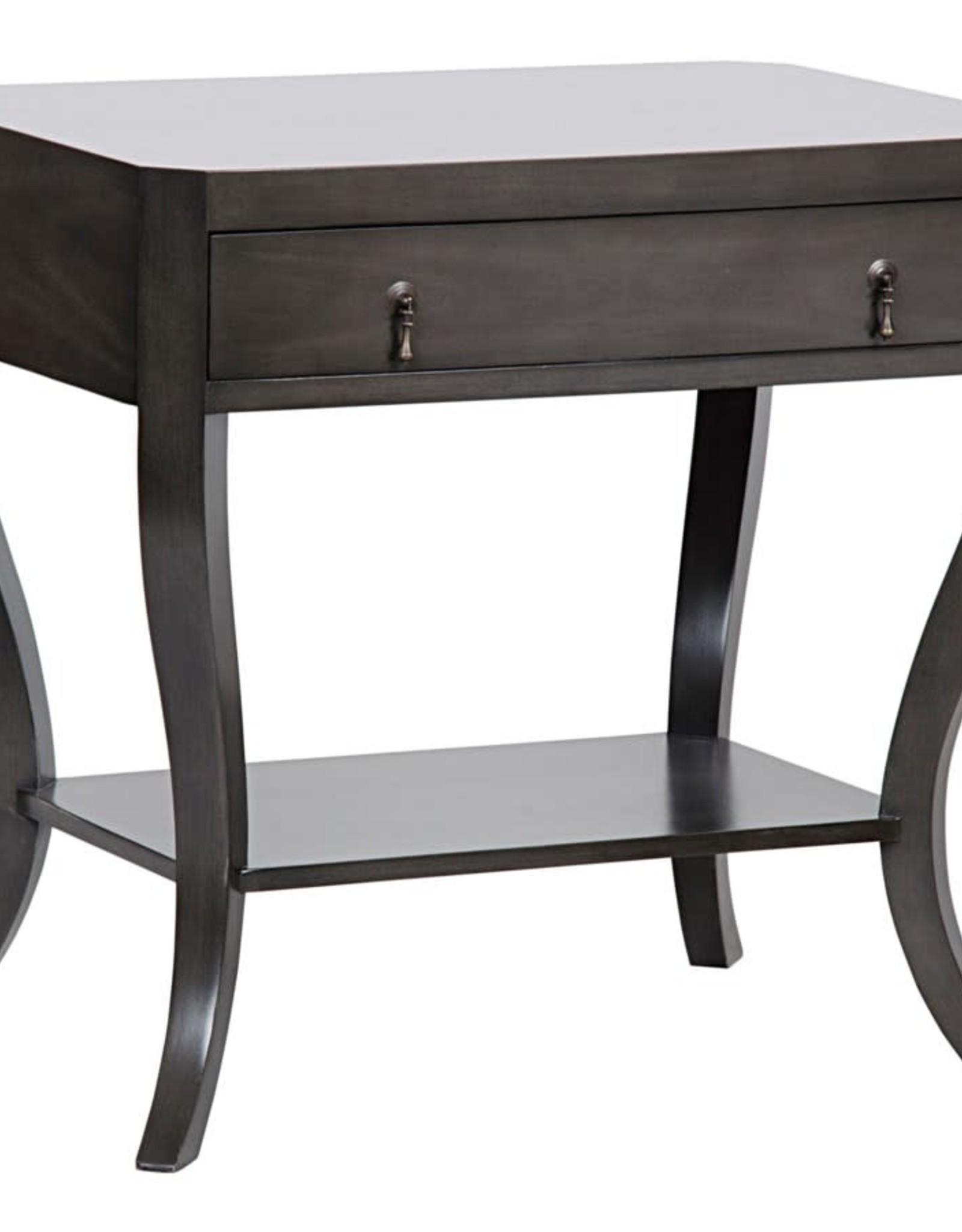 Noir Weldon Side Table 30 x 20x 28H, Pale